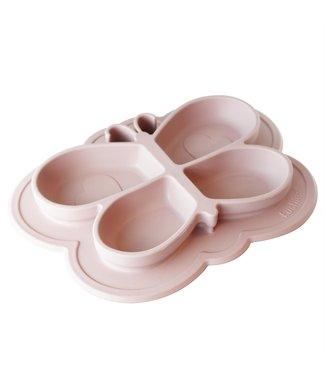 Kushies Silikonteller SiliPlate Schmetterling rosa