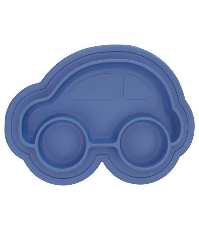 Kushies Silikonteller SiliPlate Auto blau