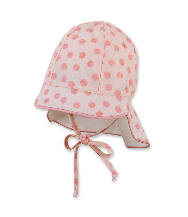 Sterntaler Mädchen Schirmmütze mit Nackenschutz Punkte