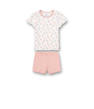 Sanetta Mädchen Schlafanzug kurz Dots-Allover