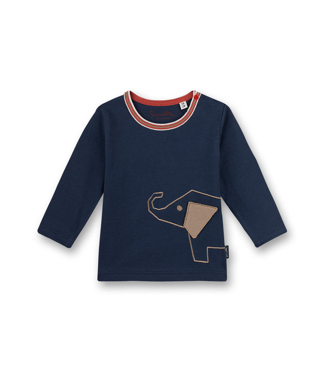 Sanetta Fiftyseven Baby Jungen Shirt Elephant blau