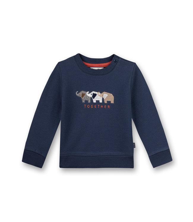 Sanetta Fiftyseven Baby Jungen Sweatshirt Family Elephant