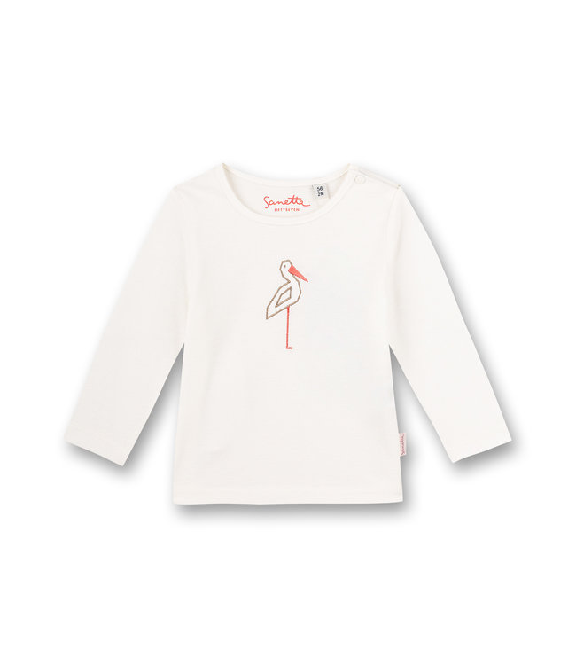 Sanetta Fiftyseven Baby Mädchen-Shirt langarm Family Stork
