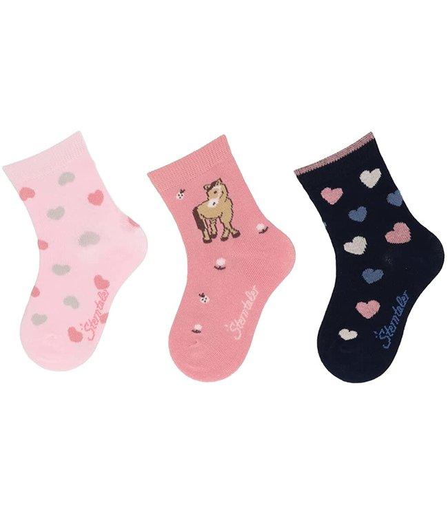 Sterntaler Socken 3er Pack Herzen