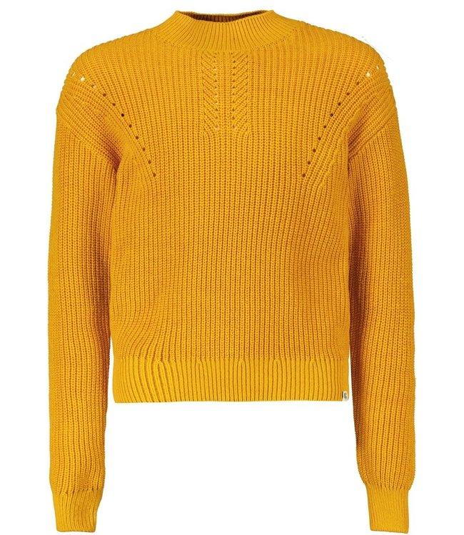 Garcia Mädchen Gestrickter Pullover gelb