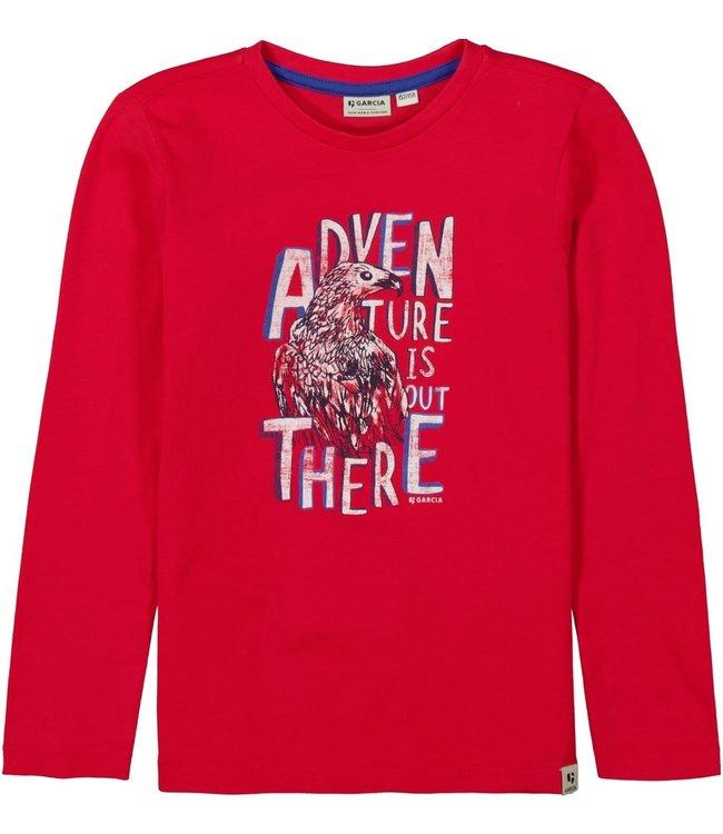 Garcia Kinder Langarmshirt Adventure red