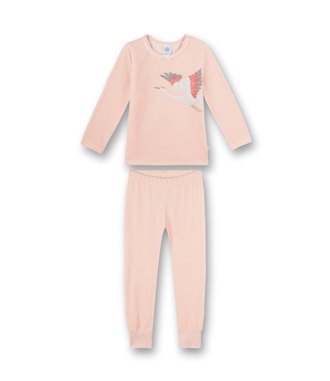 Sanetta Mädchen Schlafanzug langarm  Retro Romance Rosa