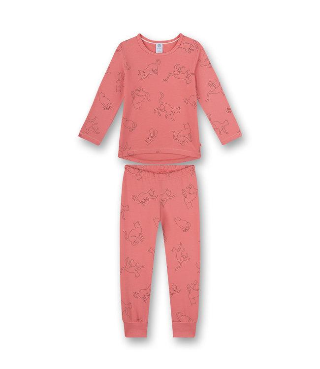 Sanetta Mädchen Schlafanzug langarm Fancy Cat rosa