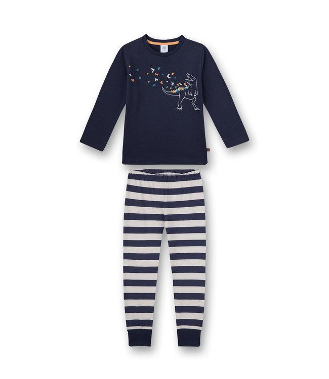 Sanetta Jungen Schlafanzug langarm Blau Dino