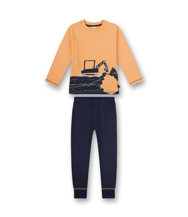 Sanetta Jungen Schlafanzug langarm Dino & Bagger