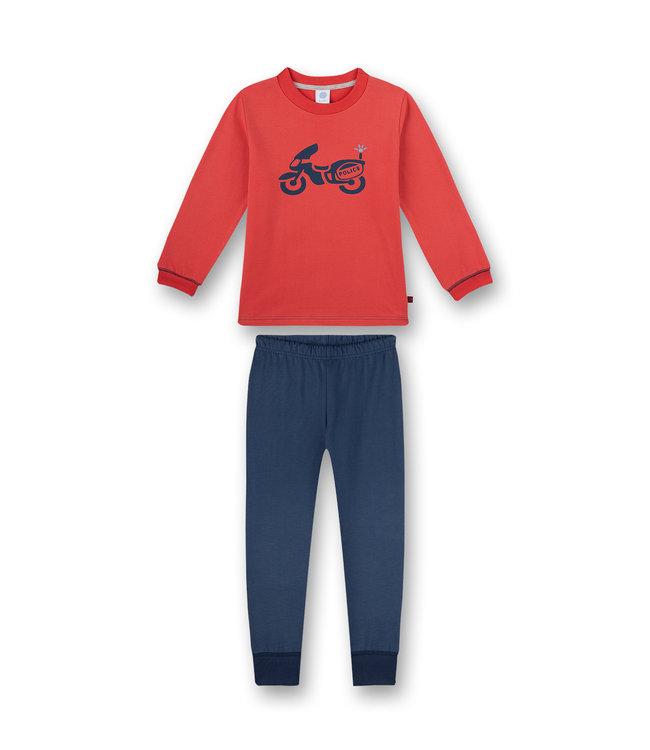 Sanetta Jungen Schlafanzug langarm Rot Police