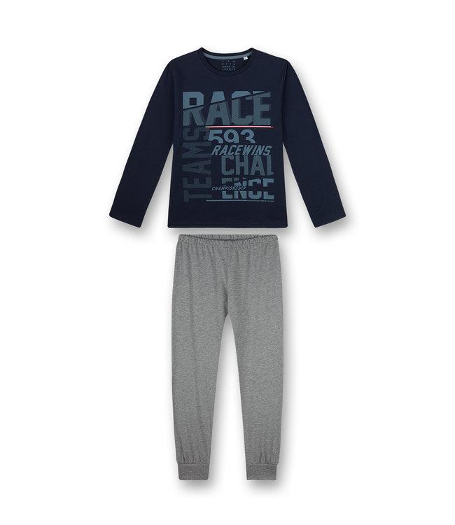 Sanetta Jungen Schlafanzug langarm Blau Racing Academ