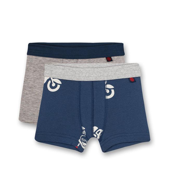Sanetta Jungen-Shorts (Doppelpack) Polizei