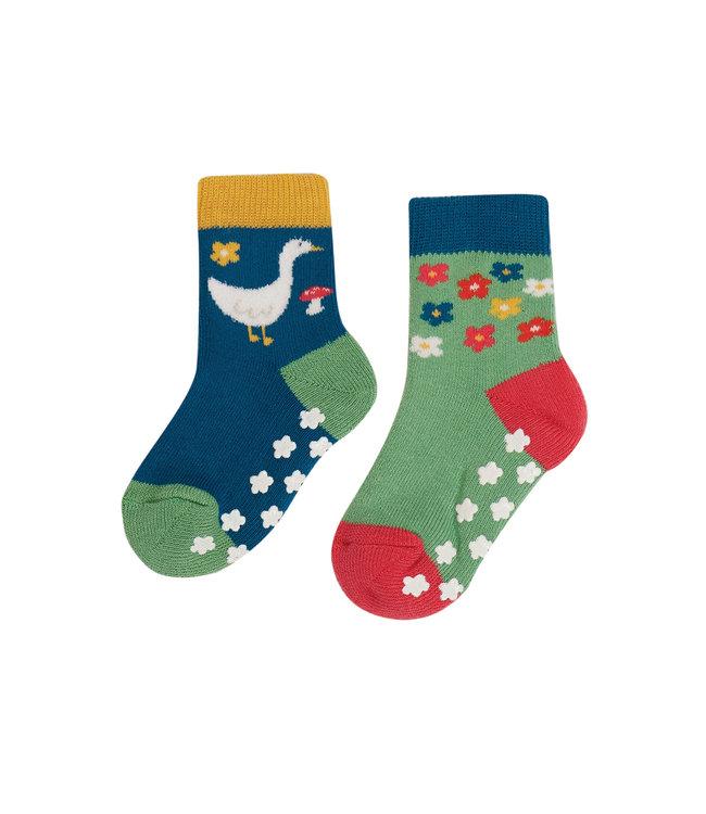 Frugi Kleinkinder Socken 2er Grippy Gans