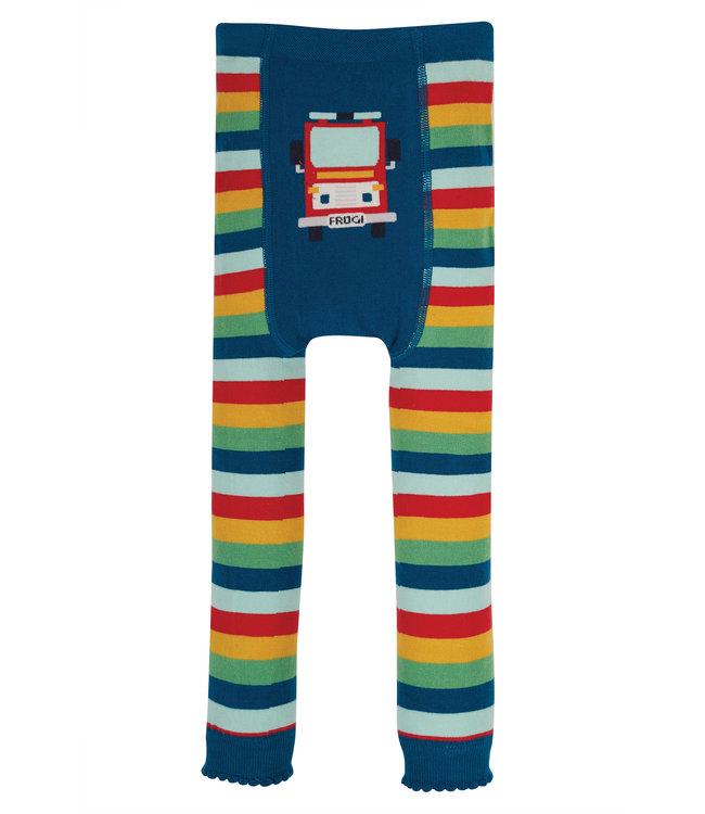 Frugi Kleinkinder Leggings Rainbow/Fire Engine