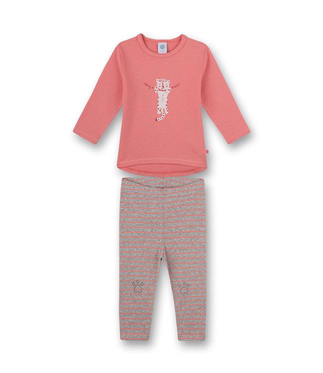 Sanetta Mädchen Schlafanzug langarm Tiny Leopard
