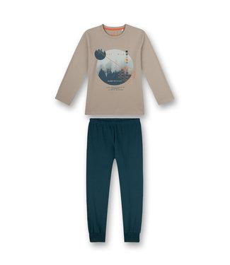 Sanetta Jungen Schlafanzug langarm Wild Adventure beige