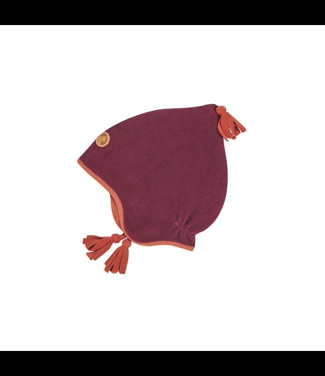 Finkid PIPO Kinder Fleece Zipfelmütze beet red/chili