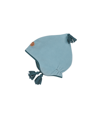 Finkid PIPO Kinder Fleece Zipfelmütze smoke blue/deep teal