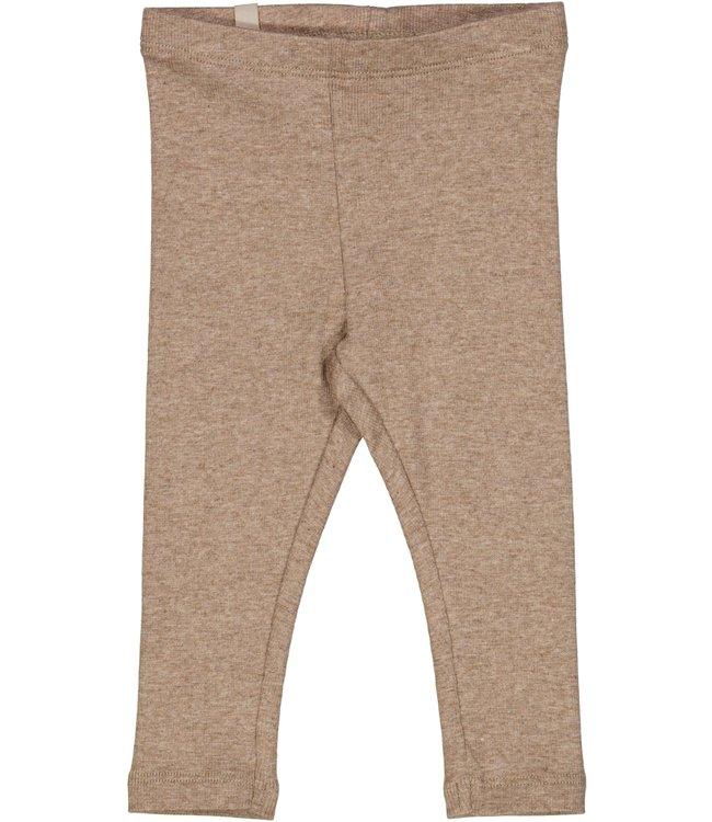 Wheat Baby Rib Leggings khaki melange