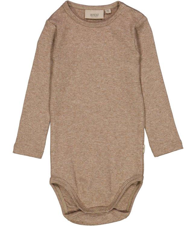 Wheat Baby Body Ripp khaki melange