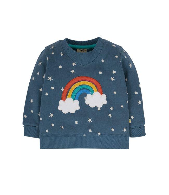 Frugi Kleinkinder Pullover Regenbogen & Sterne