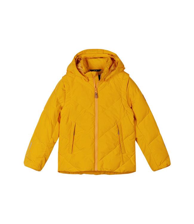 Reima Kinder Daunenjacke 2in1 Porosein Orange yellow
