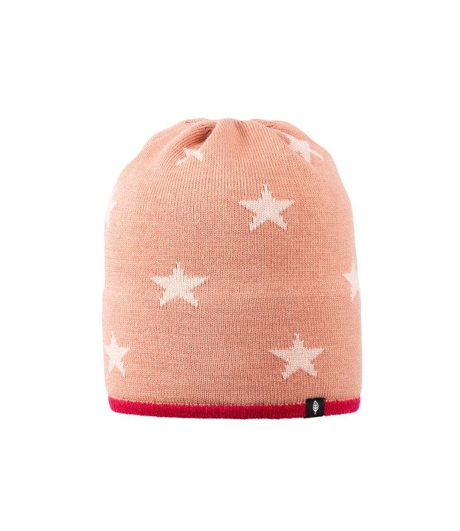 Pure Pure Kindermütze Sterne burnt coral