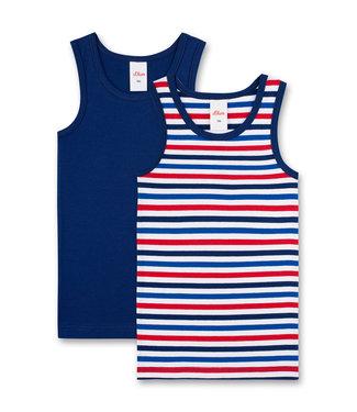 s.Oliver Jungen-Unterhemd (Doppelpack) blau/streifen