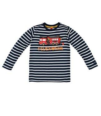 Bondi Kleinkinder langarm Shirt geringelt Feuerwehr