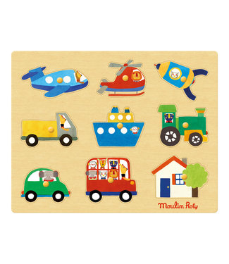 Moulin Roty Puzzle Fahrzeuge