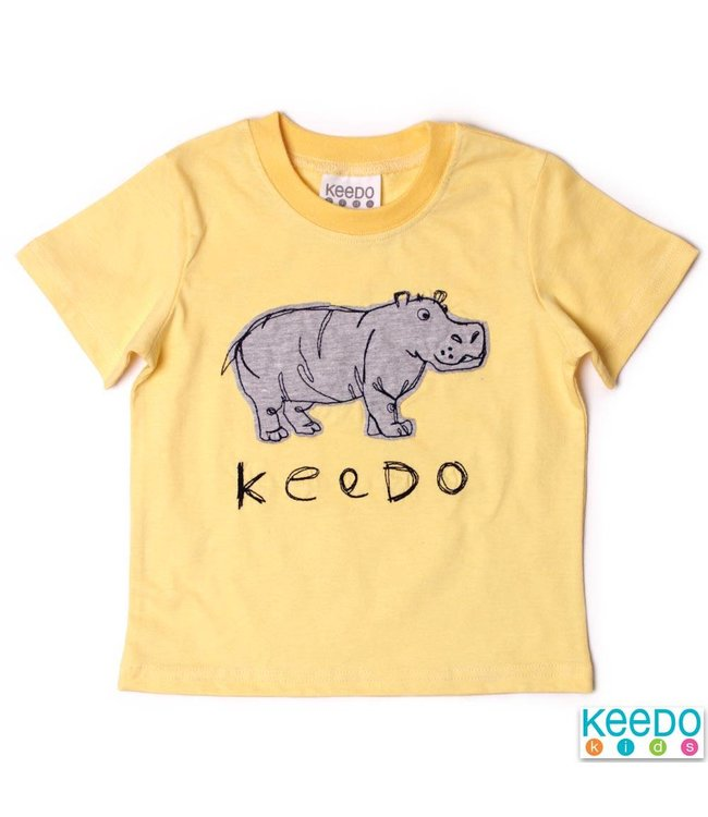 Keedo Baby T-Shirt Hippo safari yellow