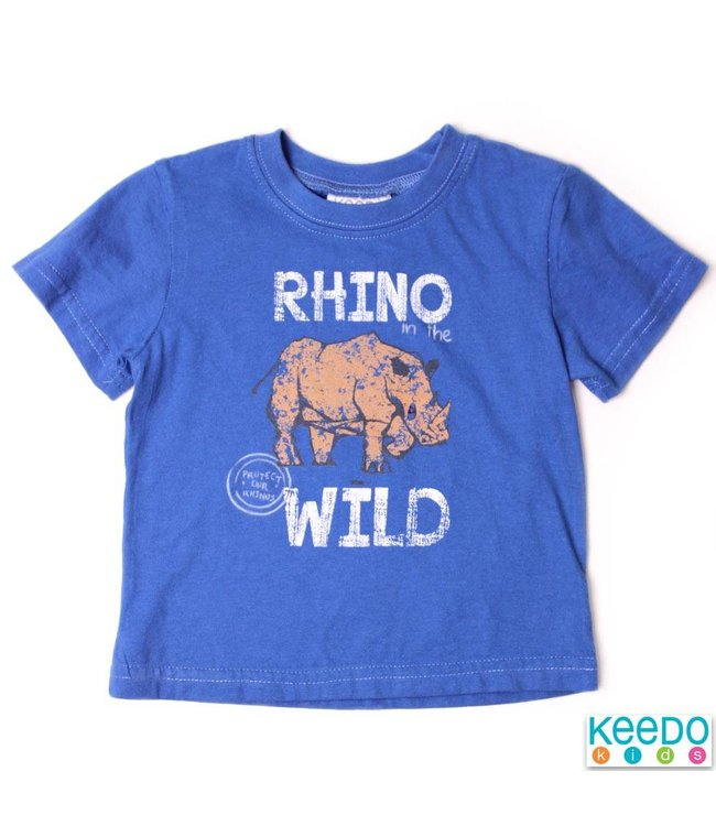 Keedo Baby T-Shirt Wild Rhino french blue