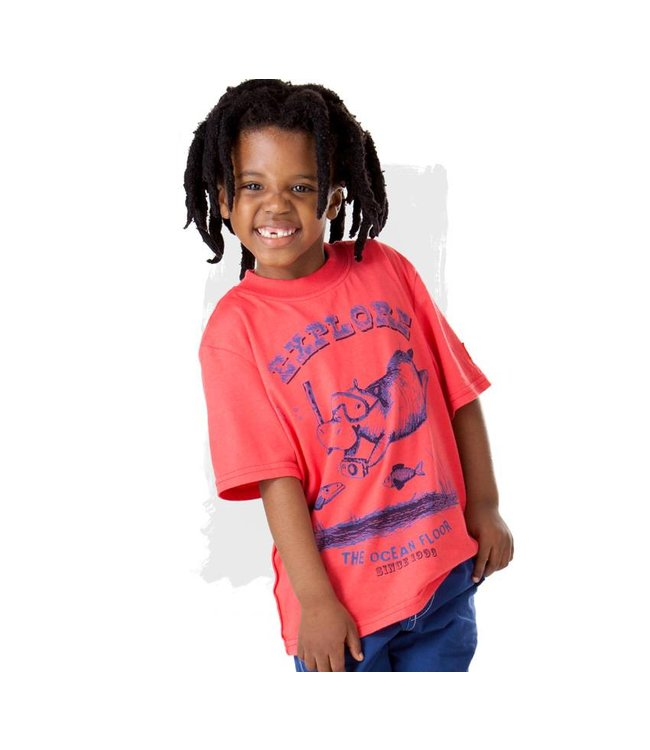 Keedo Diving Hippo T-Shirt Boys Red