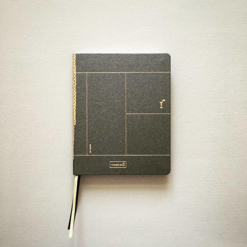 Linnen notitieboek A6 - dotted grid / gelinieerd - Forest Green