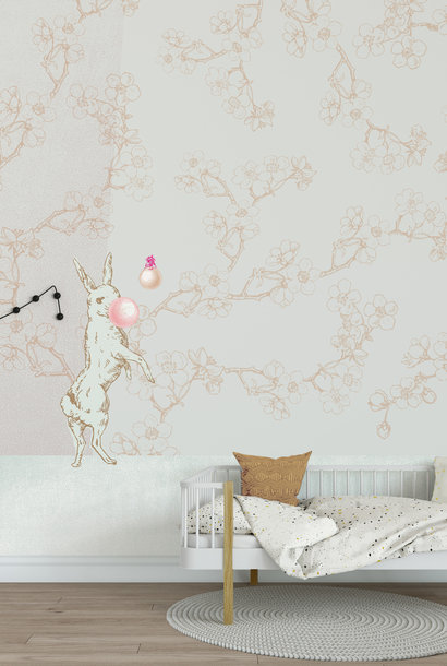 Kids wallpaper Mural - Bubble Blos