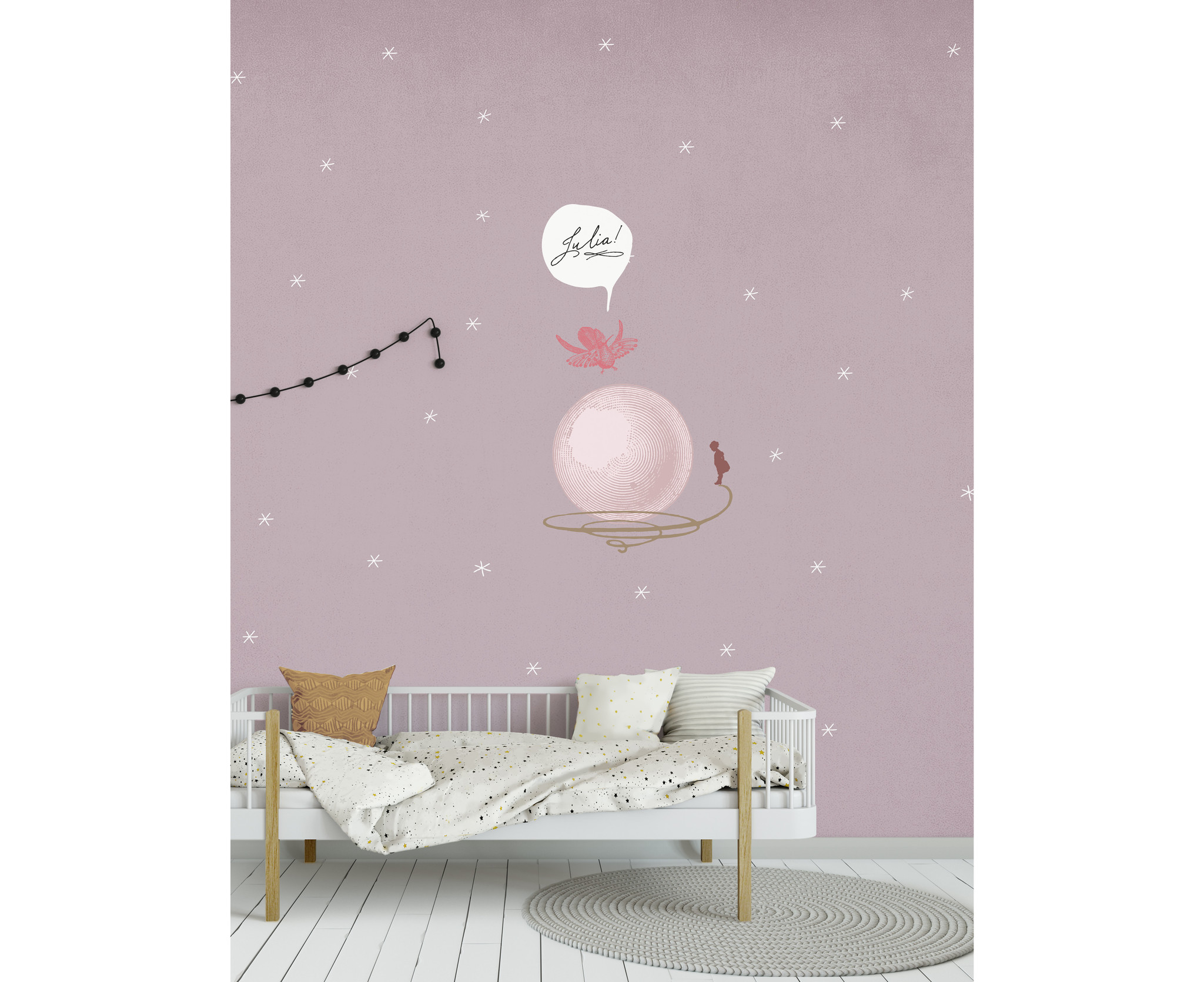 Kids wallpaper Mural - Where is your bubble-2