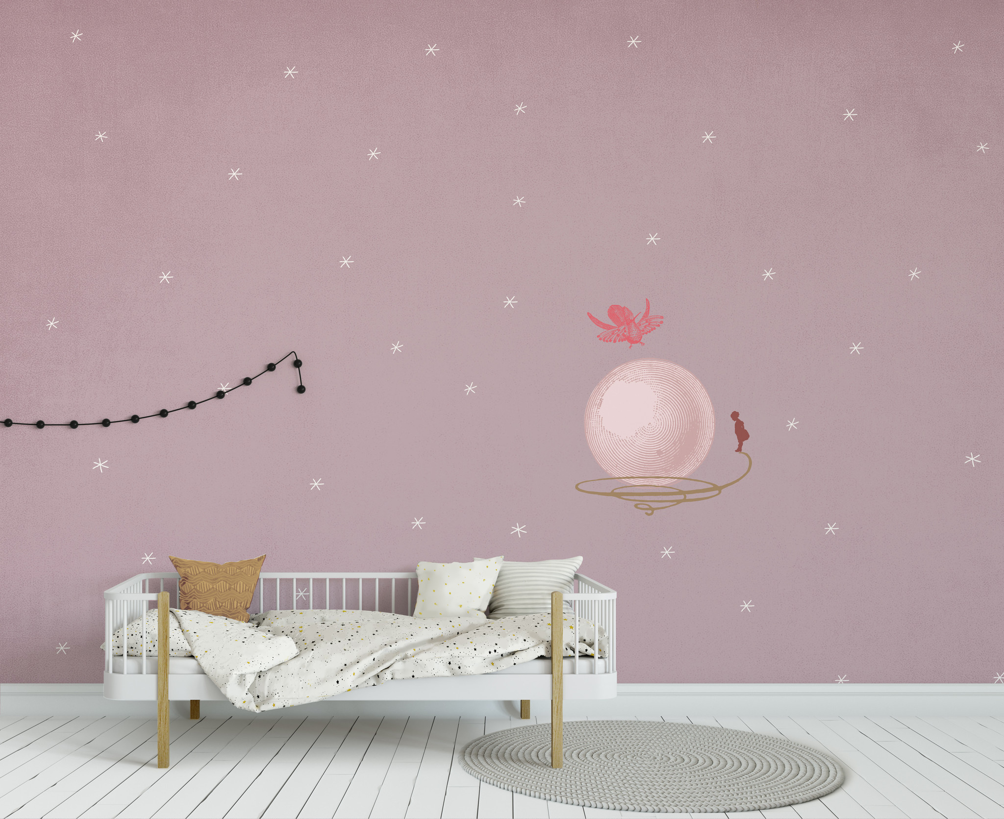 Kids wallpaper Mural - Where is your bubble-1