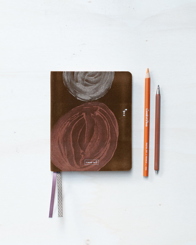Linen notebook A6 - dotted grid / lined - Smokey Quartz