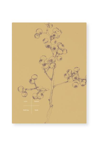 Kaart - Yellow berry (5 stuks)