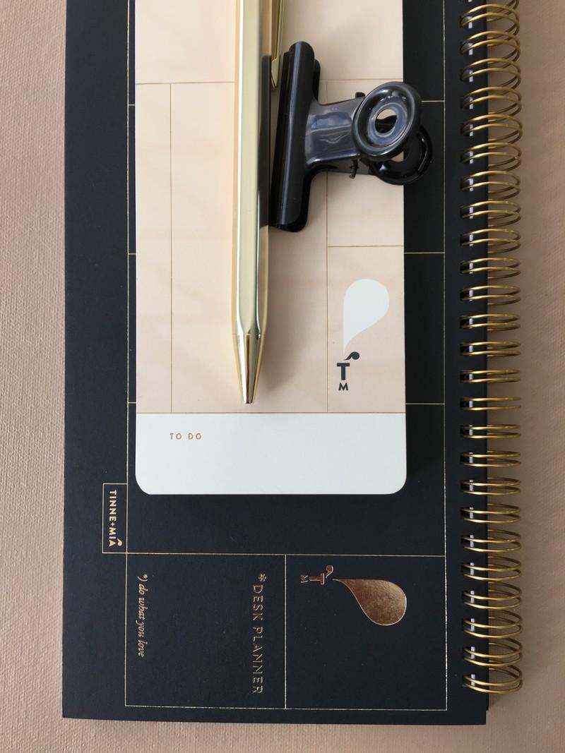 Desk Planner - 13 x 29cm - week overzicht - Noir
