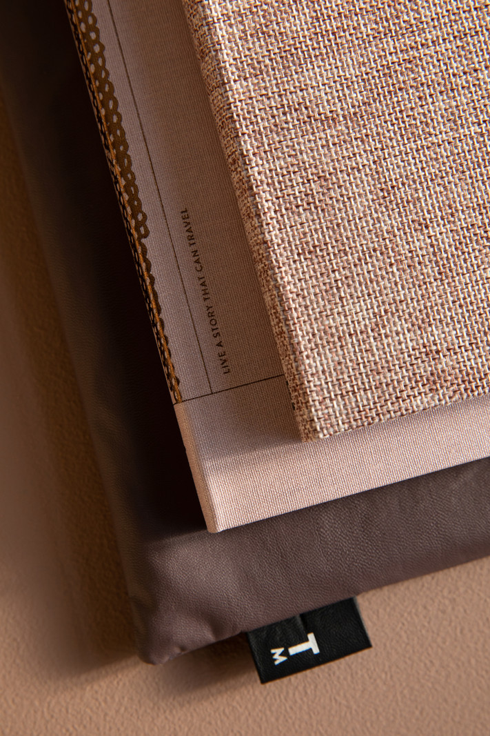 Linnen notitieboek A6 - dotted grid / gelinieerd - Rose dust