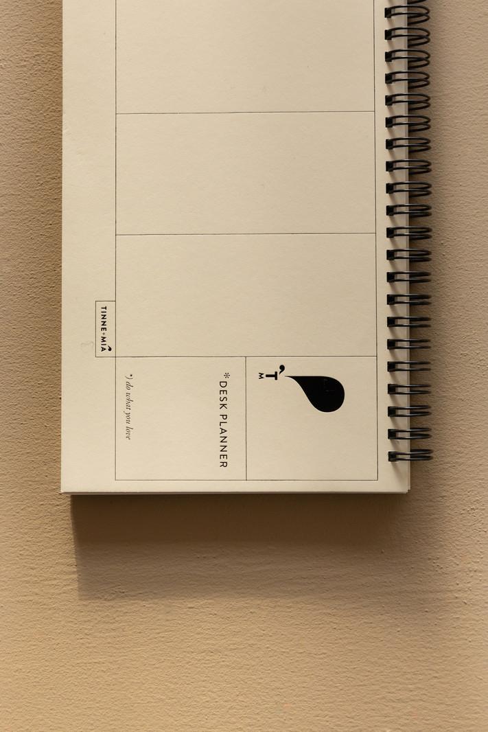 Desk Planner - 13 x 29cm - weekly overview - Jaune doux