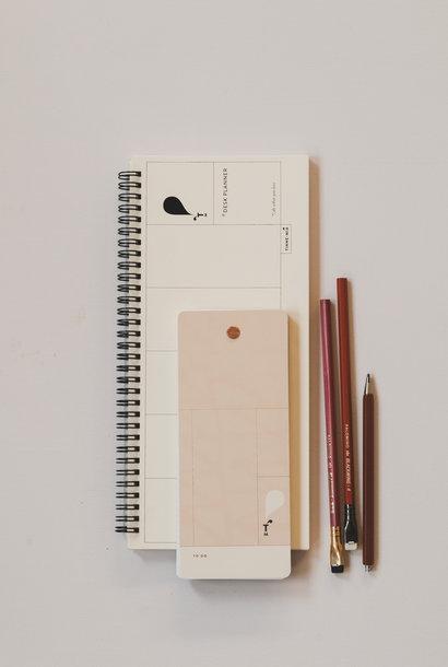 Desk Planner Jaune doux