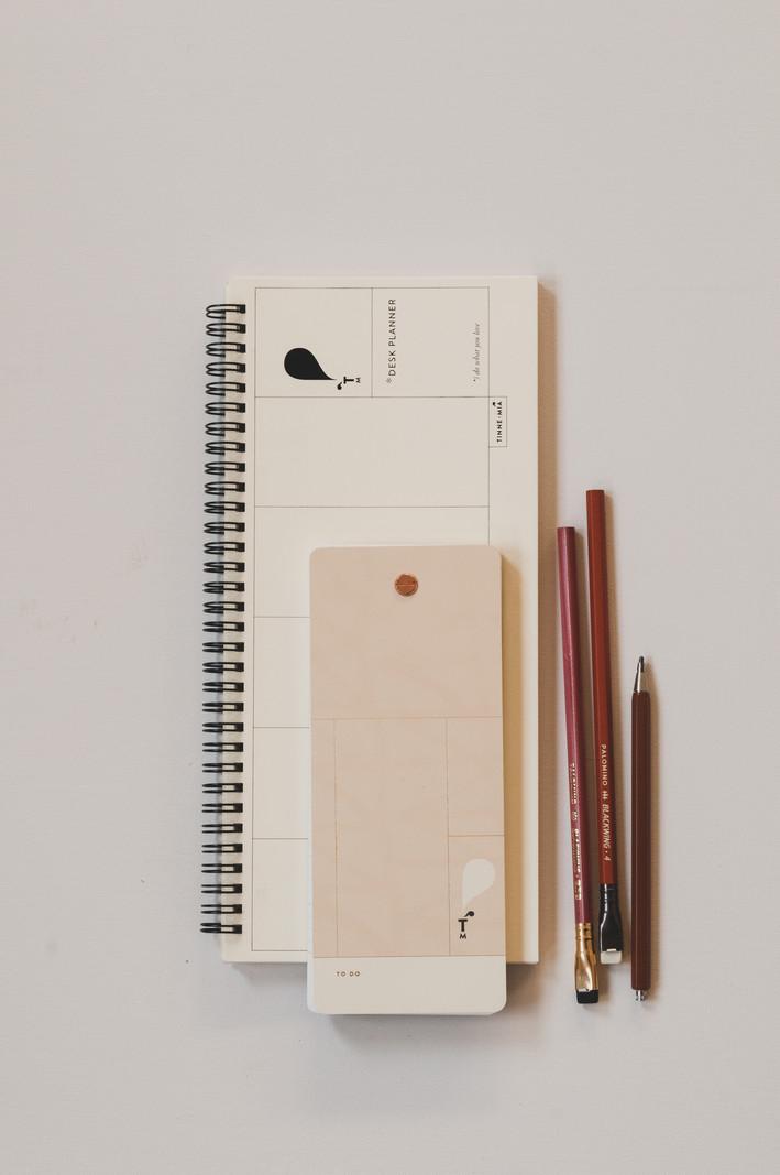 Desk Planner - 13 x 29cm - week overzicht - Jaune doux
