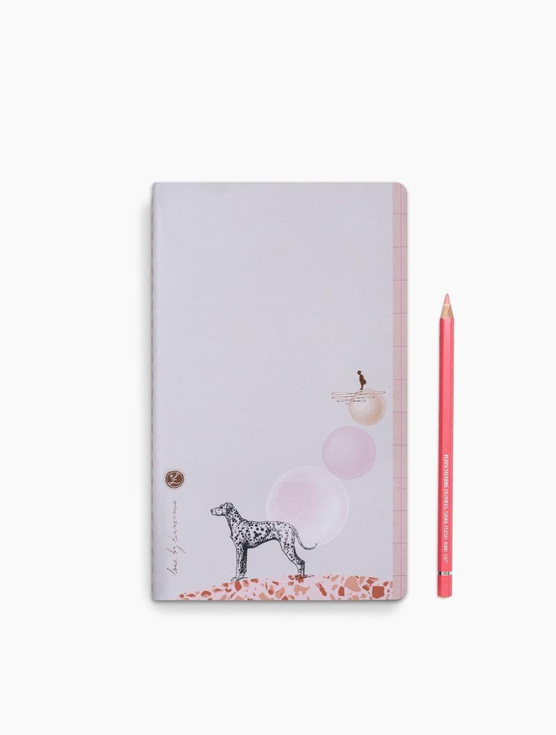 Loua - dotted grid notebook - 13x21cm - Dalmi Dog