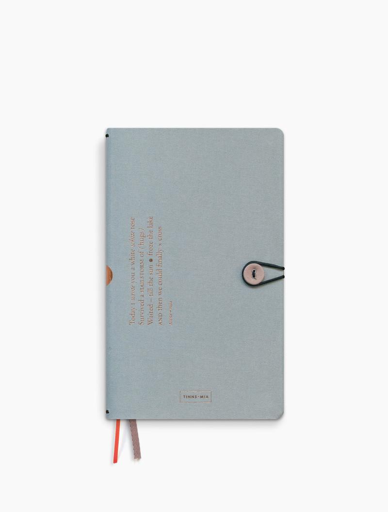 Notitieboek met knoop - dotted grid / gelinieerd / blanco - Cloud