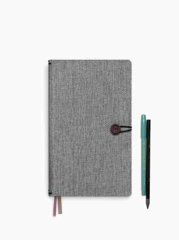 Notebook met knoop - Moss Agate