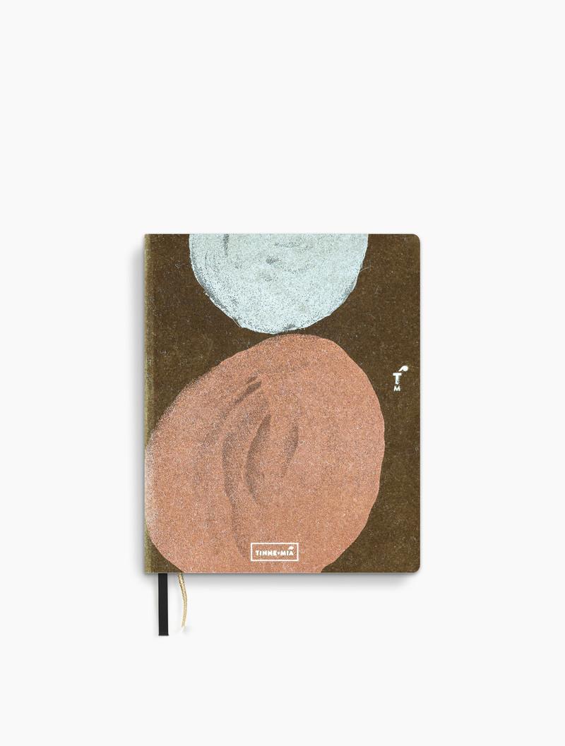 Linnen notebook A6 - FSC papier- dotted grid / gelinieerd - Smokey Quartz