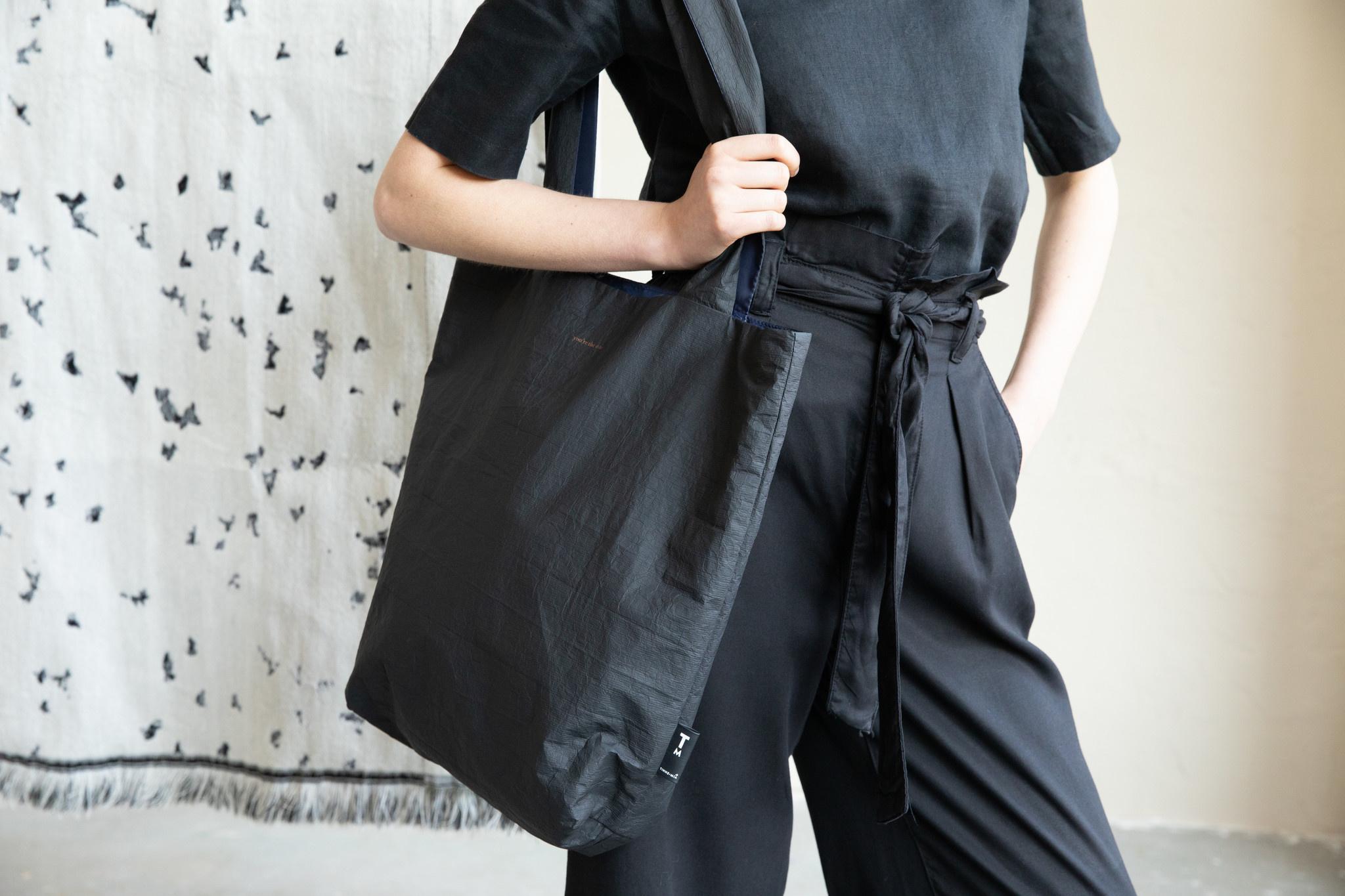 F.G. Tote Bag Tyvek - Black-1